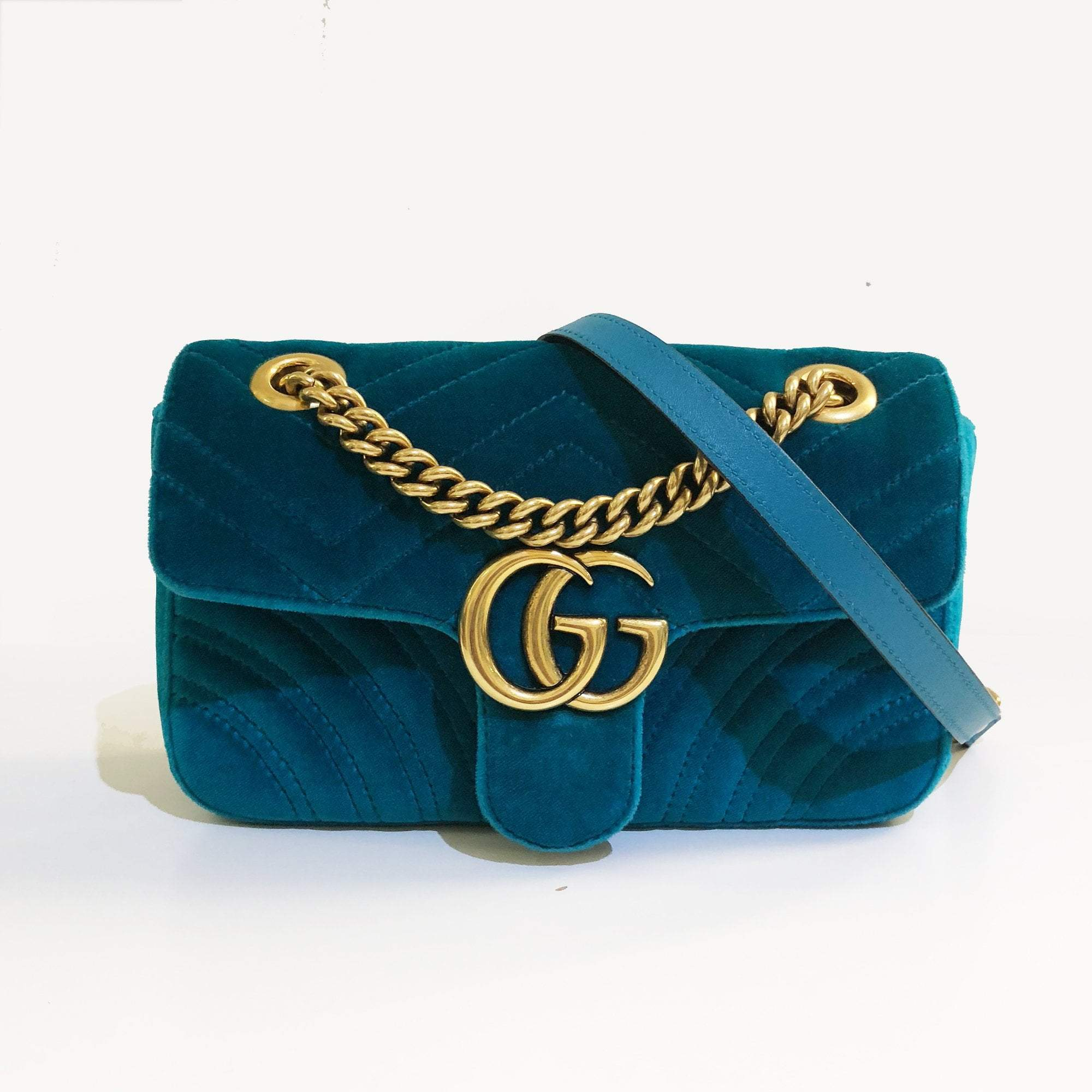 6d27c13eb72 Gucci GG Mini Marmont velvet shoulder bag – Garderobe