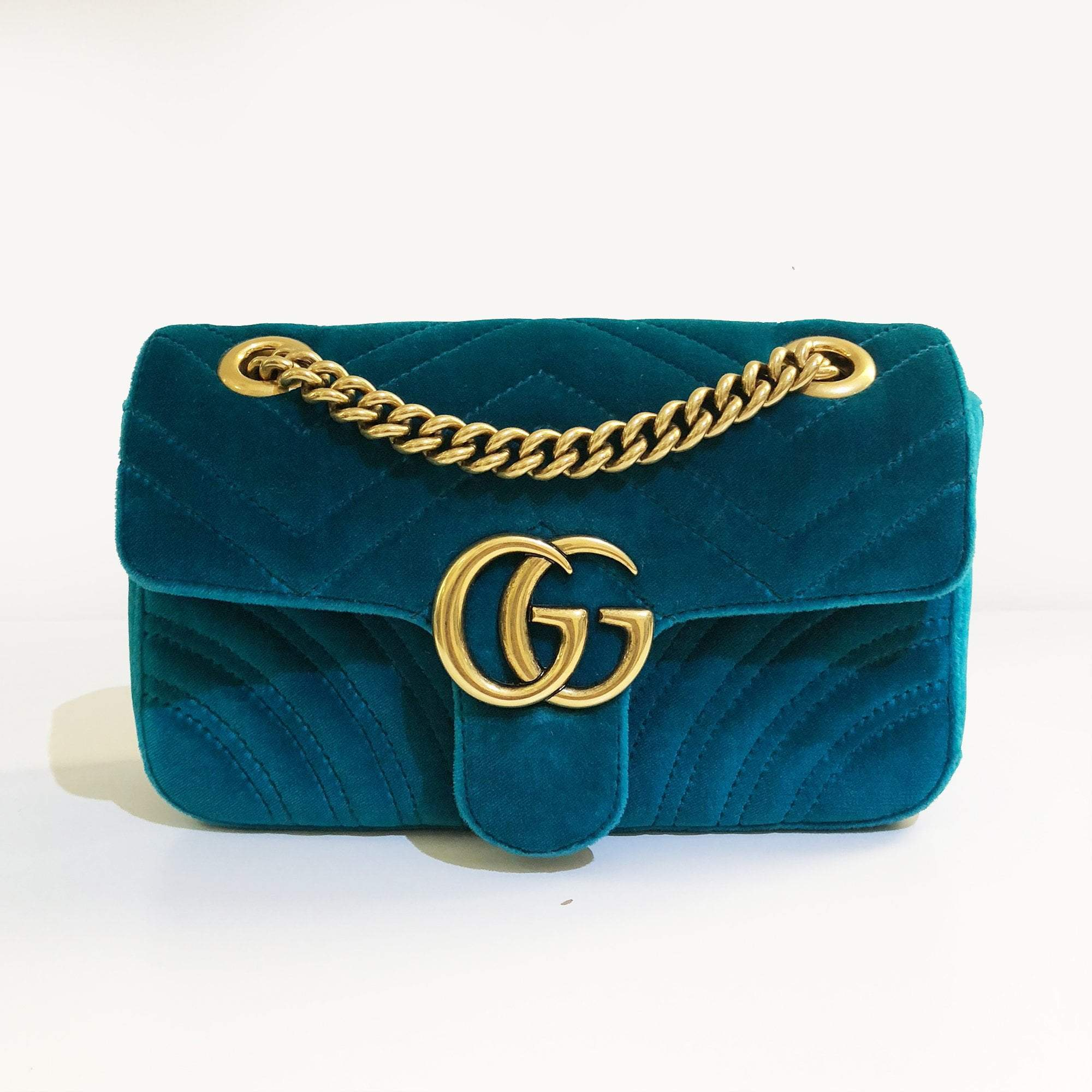 Gucci GG Mini Marmont velvet shoulder bag