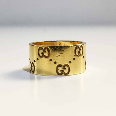 Gucci Gold Guccissima Embossed Ring