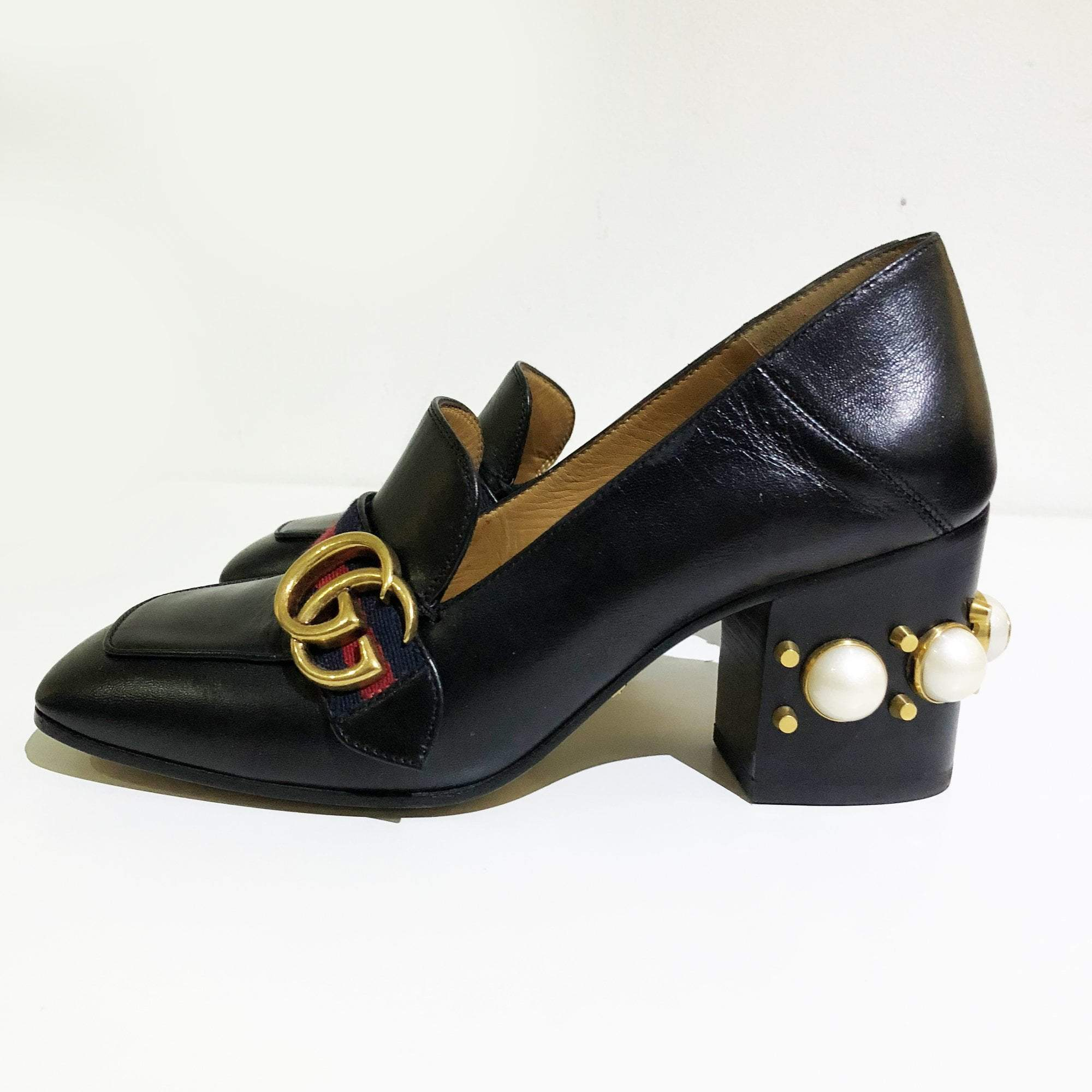 Gucci Peyton Leather Pumps