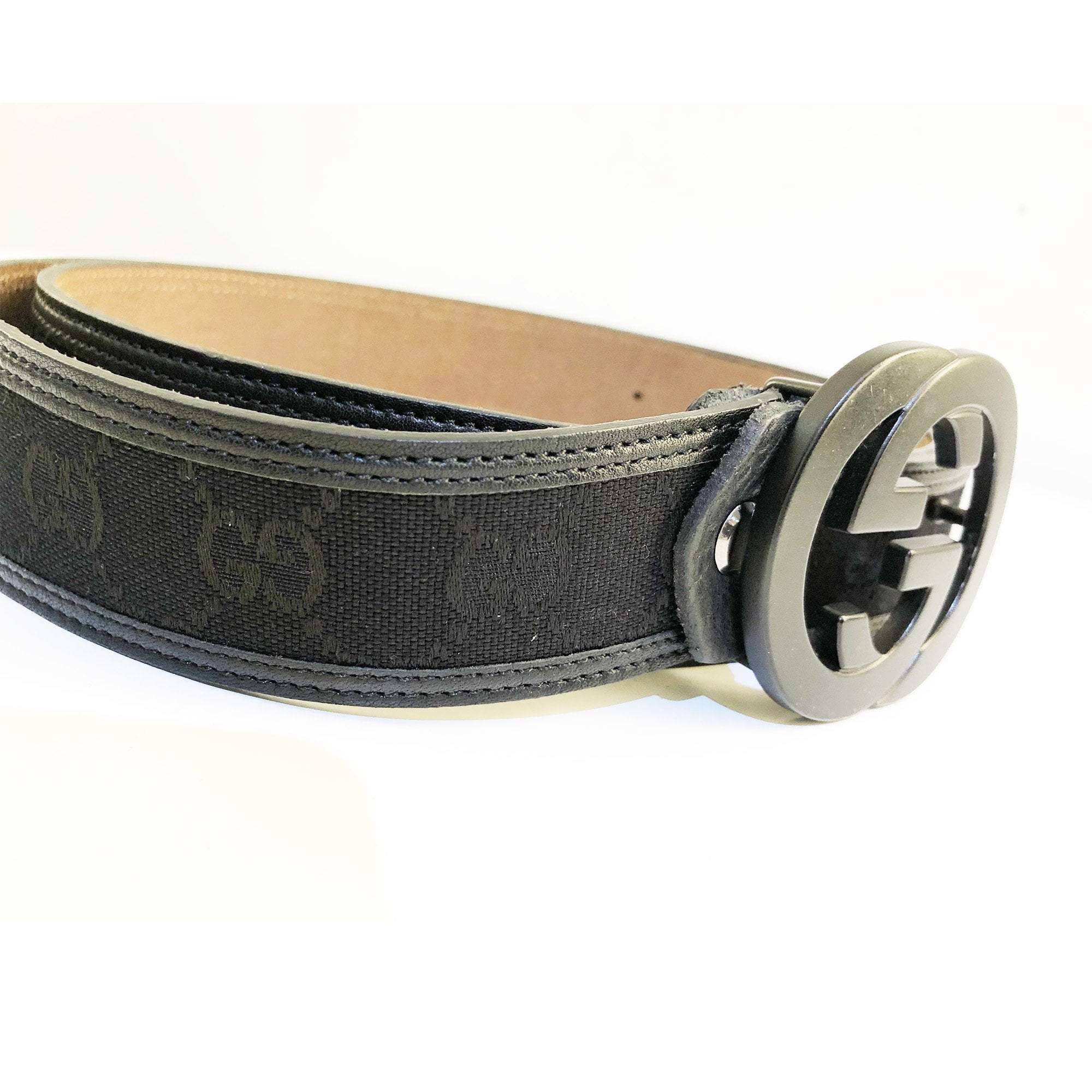 Gucci GG Buckle Black Belt