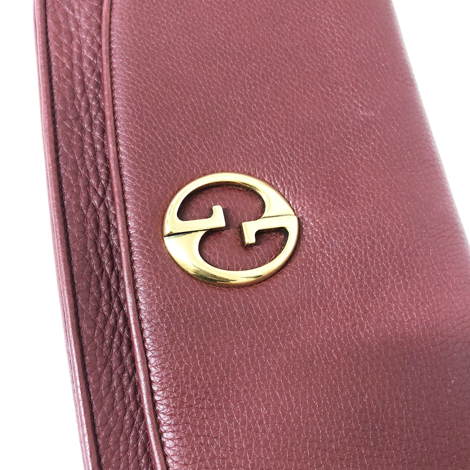 Gucci Vintage Burgundy Clutch