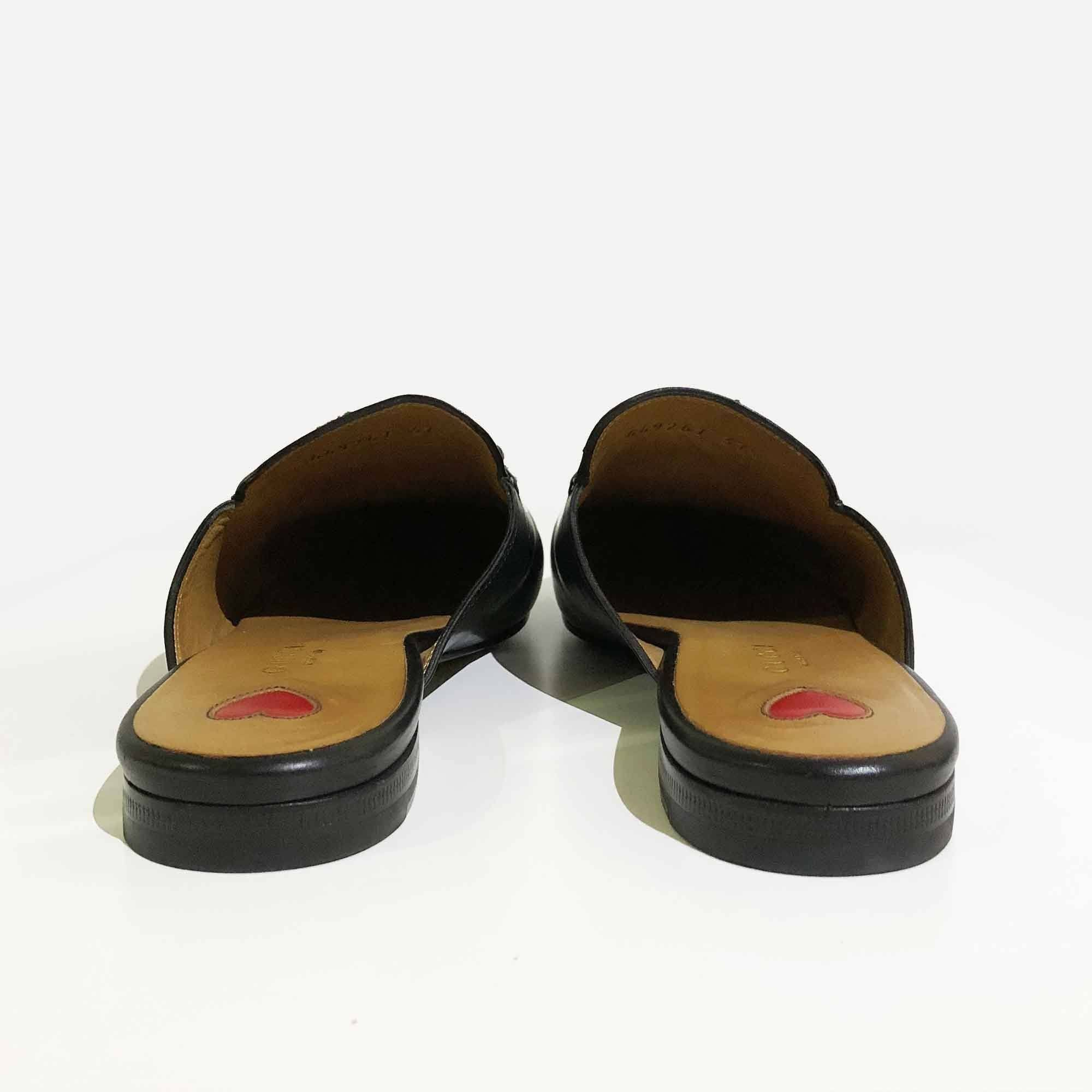 Gucci Leather Princetown Slippers