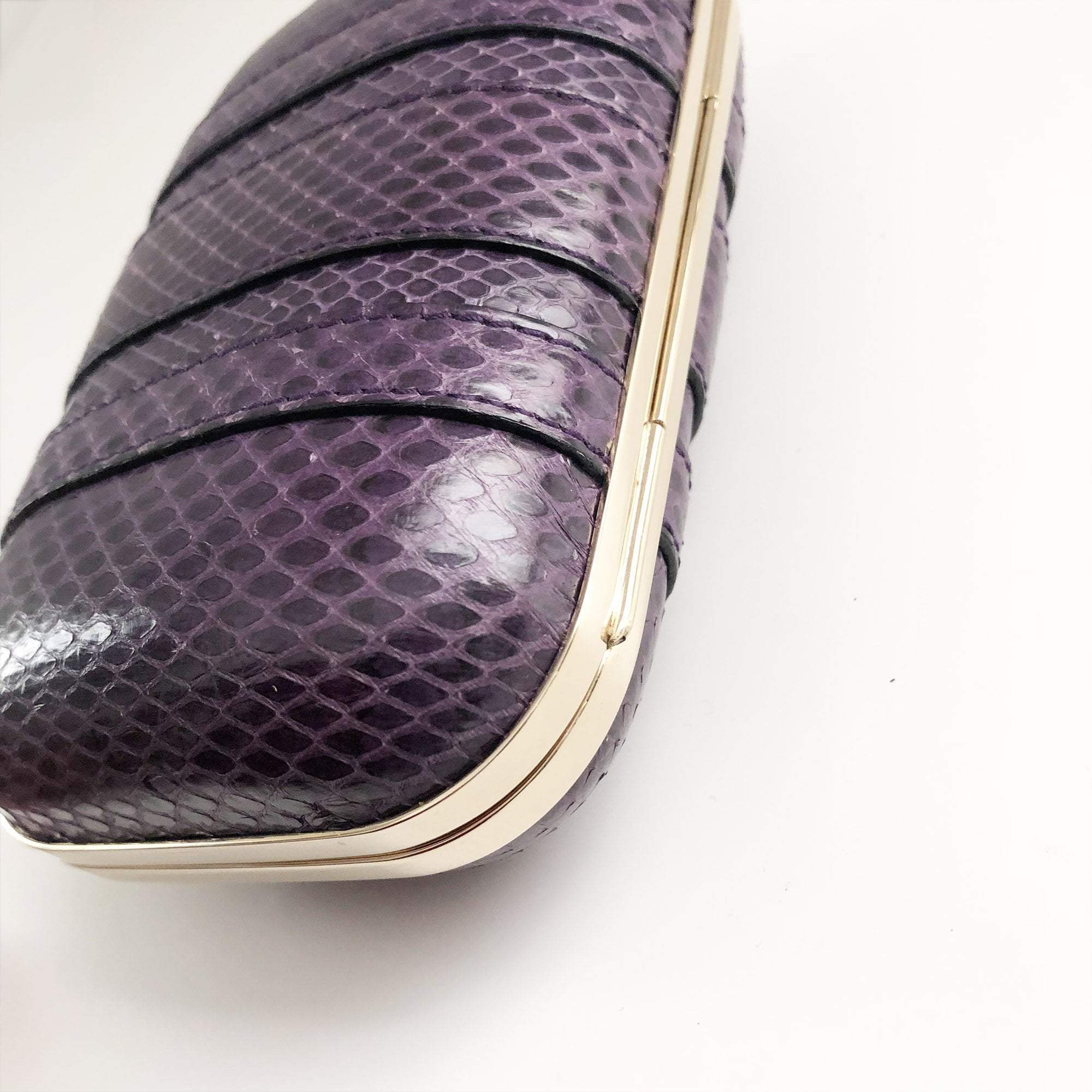 Gucci Purple Clutch Python Bag