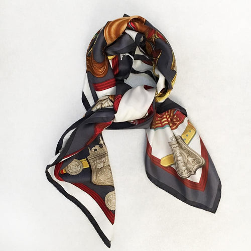 Hermes Silk Multicolor Printed Scarf