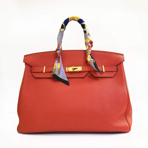 Hermes  Birkin 35 Cappucine Orange Togo Leather Bag
