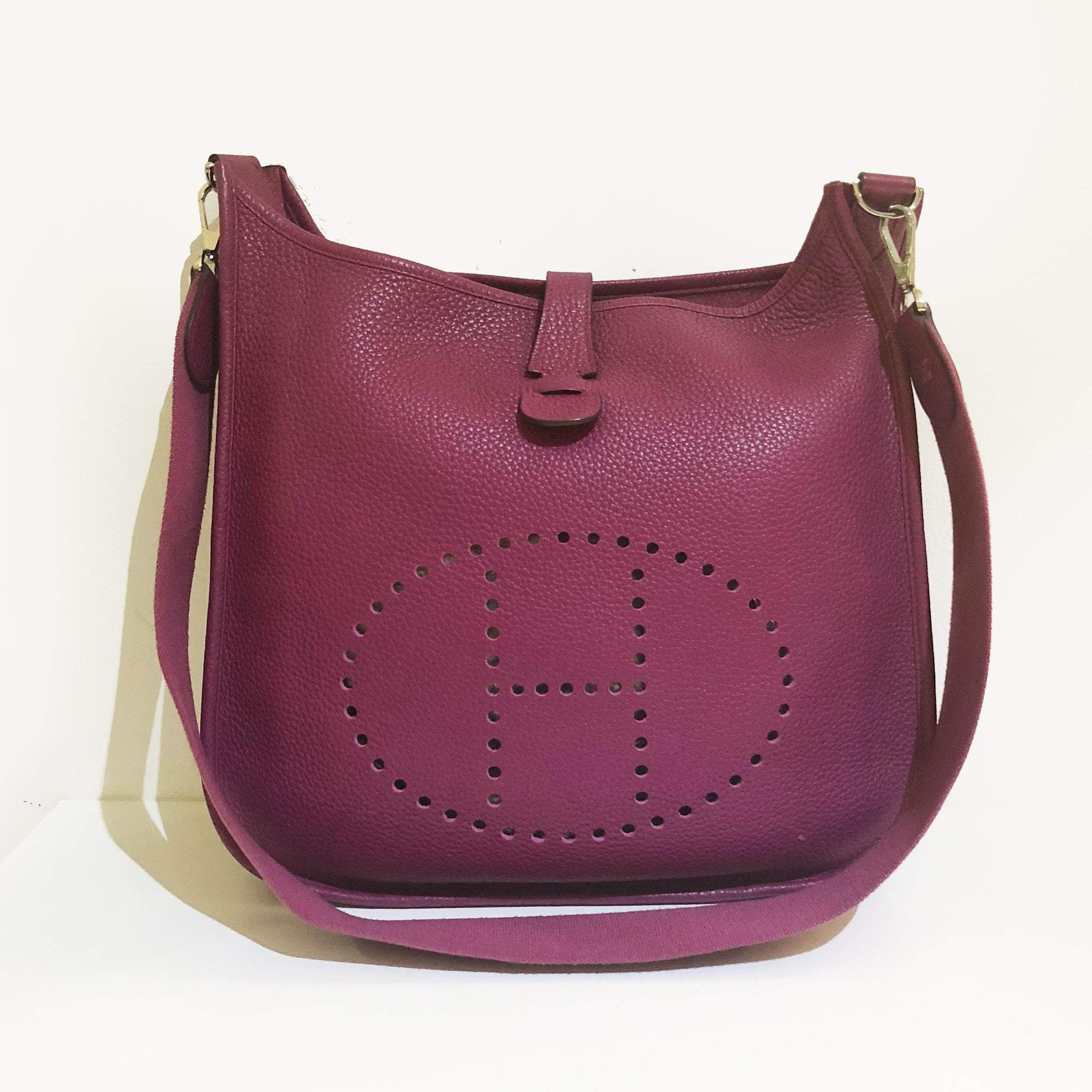 Hermes Clemence Evelyn Purple Bag