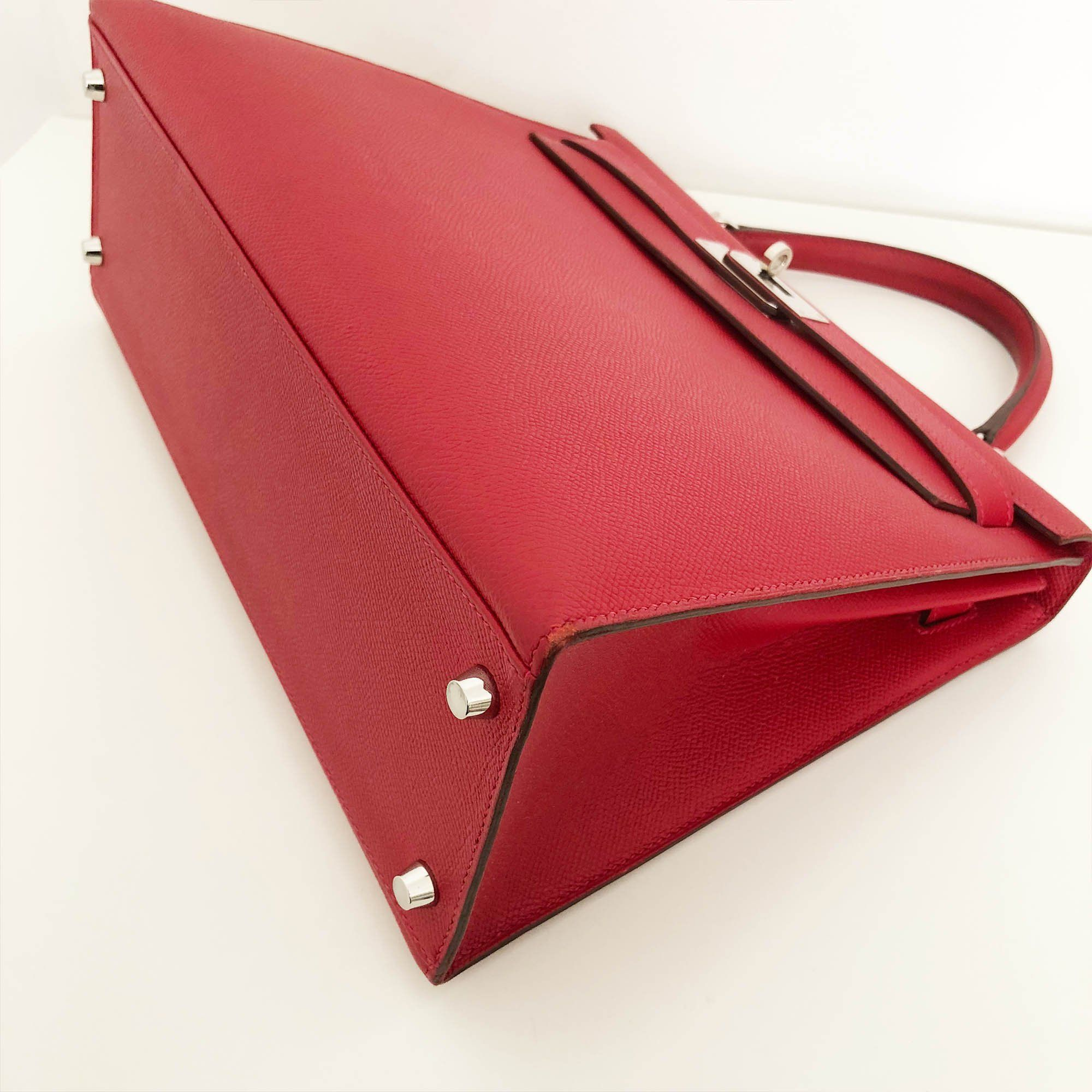 Hermes Kelly Epsom 32 in Red