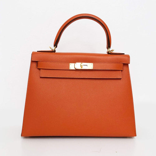 Hermes Kelly Epsom Leather  Sellier 28 Veau Epsom