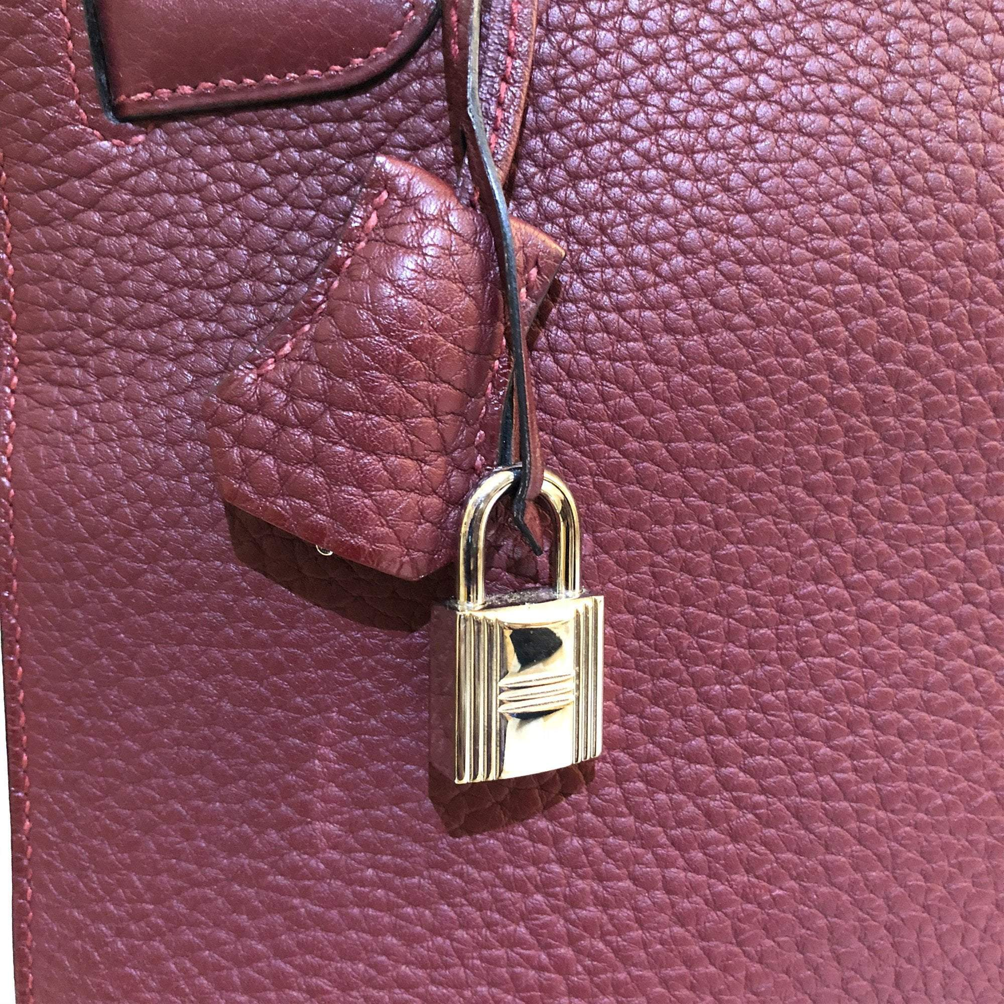Hermes Kelly Togo Burgundy 35