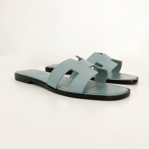 Hermes Oran Powder Blue Sandals