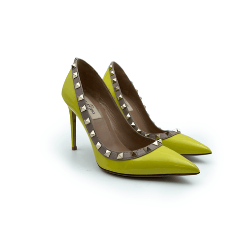 Valentino Garavani  Yellow Patent  Leather  Pumps Heels