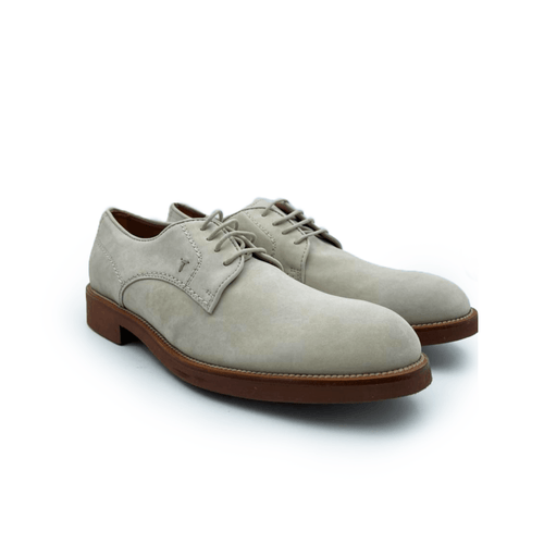 Tods Grey Suede Lace Up Oxford