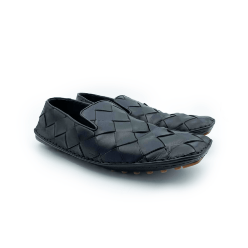 Bottega Veneta Black Men's Douglas Intrecciato Leather Loafer