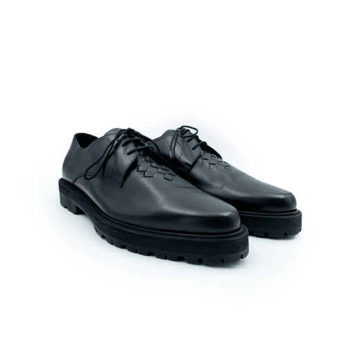 Bottega Veneta Black Men's Calf In Nero Lace Up Loafer
