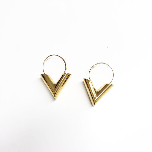Louis Vuitton Essential V Hoop Earrings