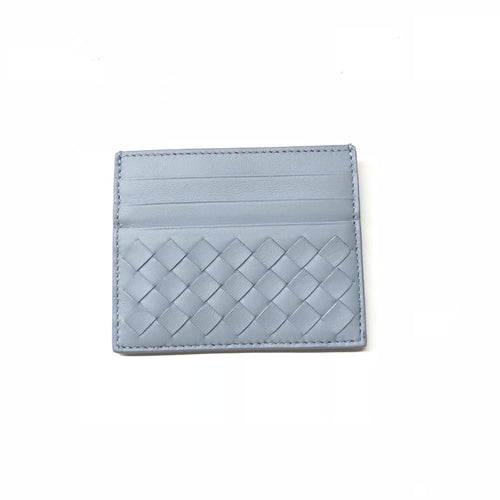 Bottega Veneta Light Blue Intrecciato Leather Card Holder