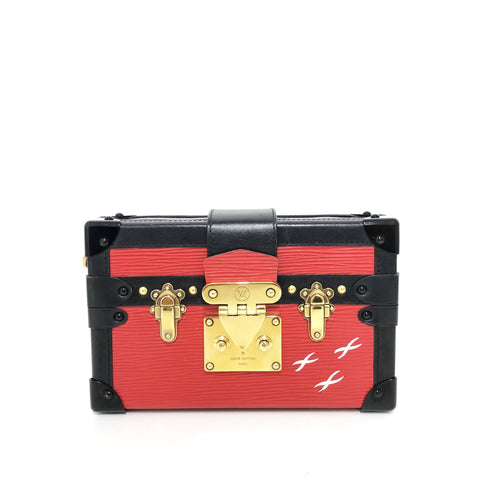 Louis Vuitton Red Petite Malle
