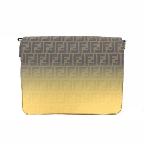 Fendi Men's Brown And Yellow Zucca Spalmati Messenger Bag