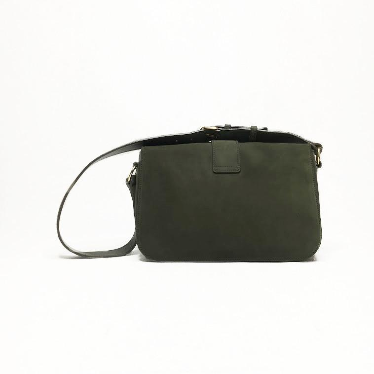Saint Laurent Chyc Dark Green Suede Bag