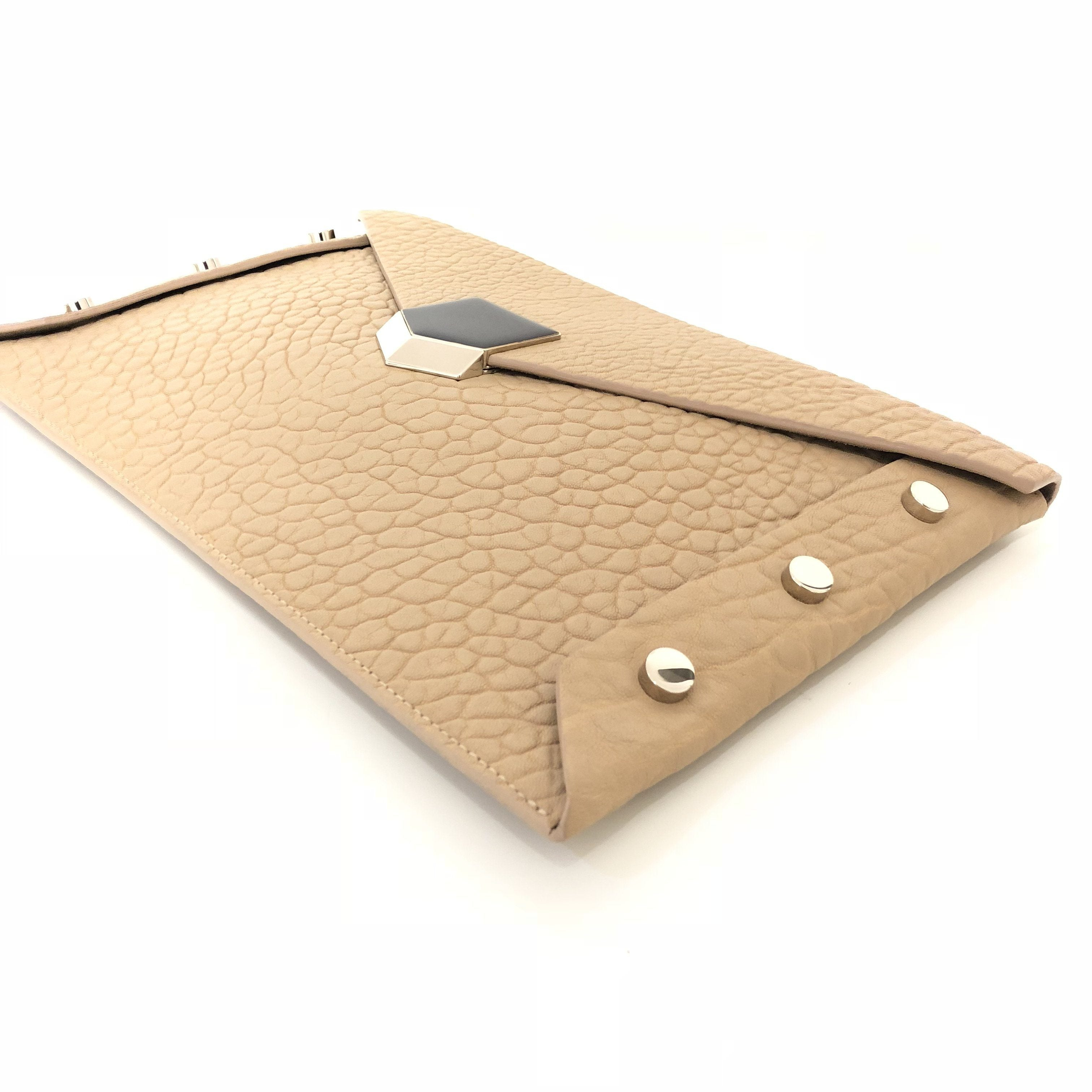 Jimmy Choo Beige Lockett Envelope Clutch