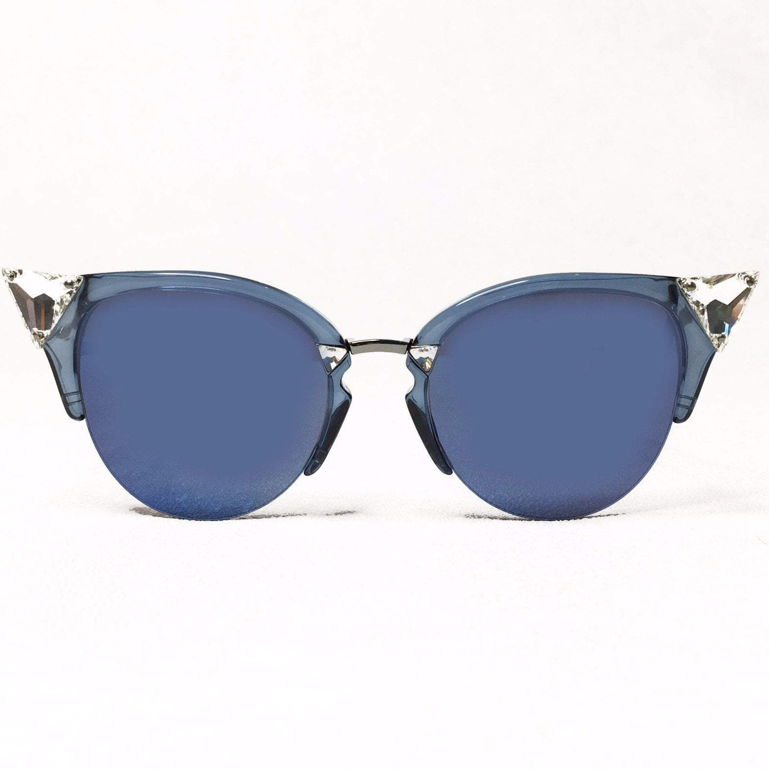 Iridia Mirrored Cat-Eye Sunglasses