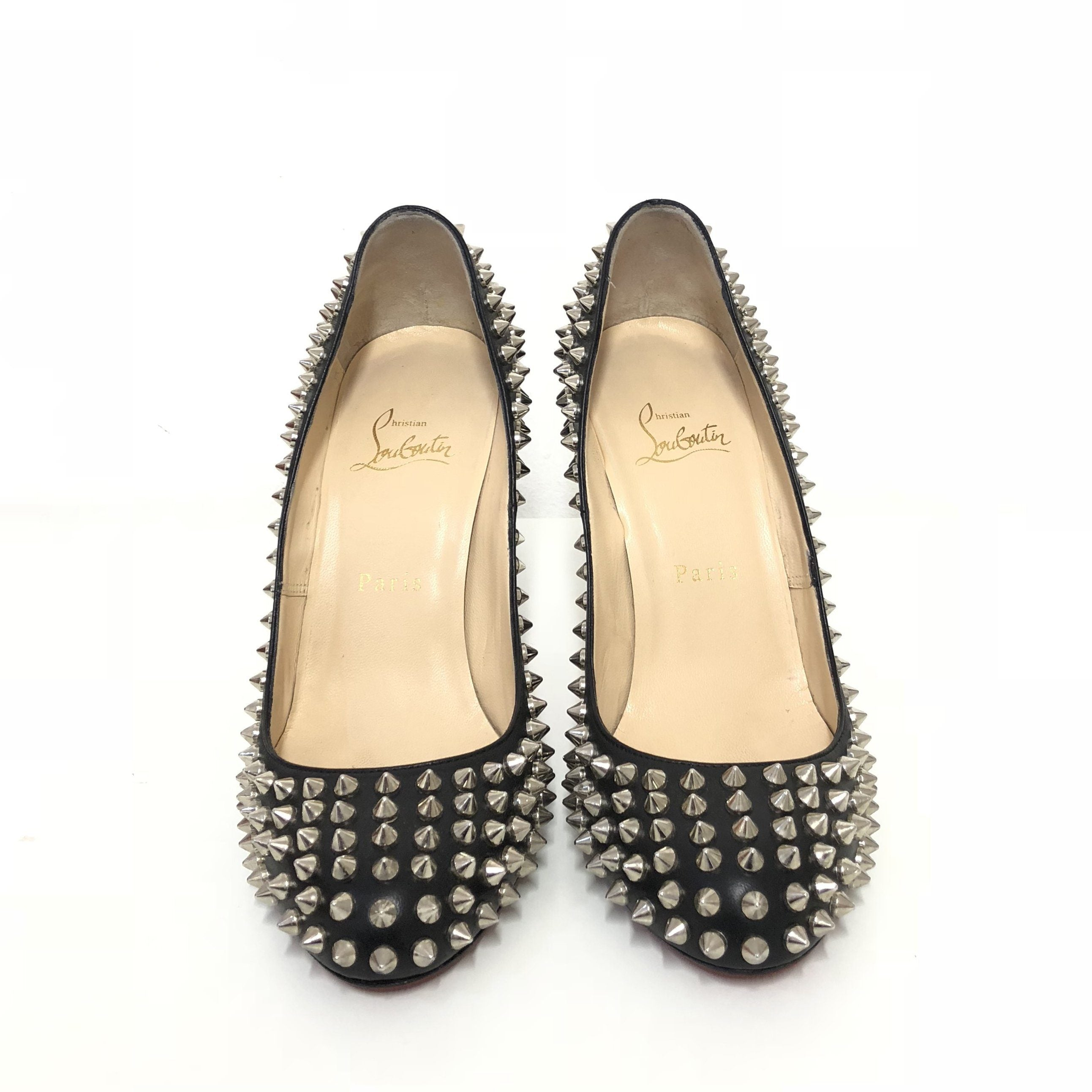 Christian Louboutin Fifi Black Spike Pumps