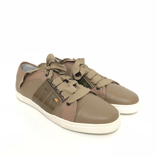 Lanvin Brown Lace Up Sneakers