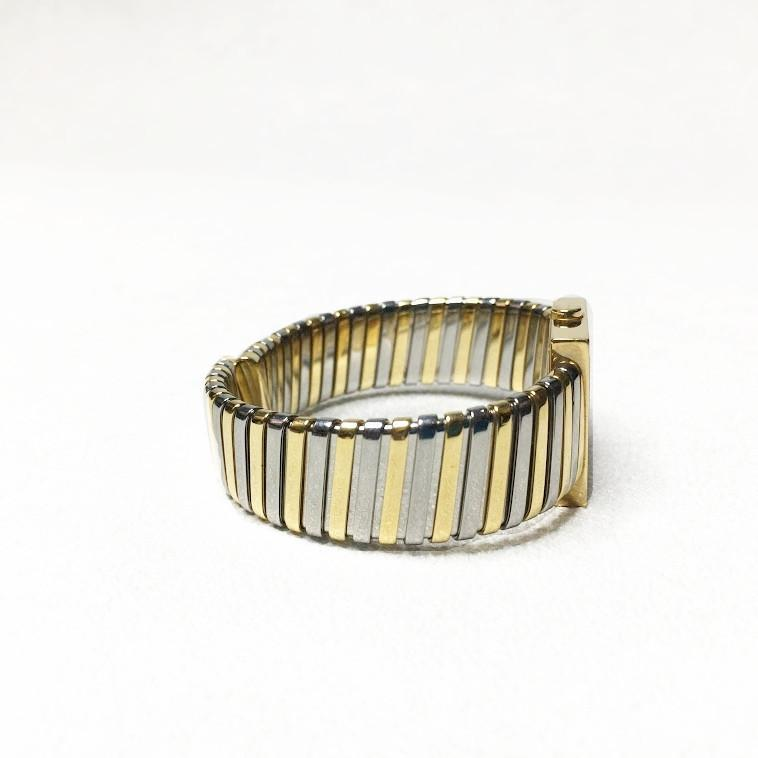 Bulgari Black 18K Yellow Gold and Stainless Steel Tubogas