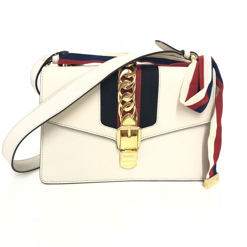 Gucci Off-White Small Sylvie Shoulder Bag