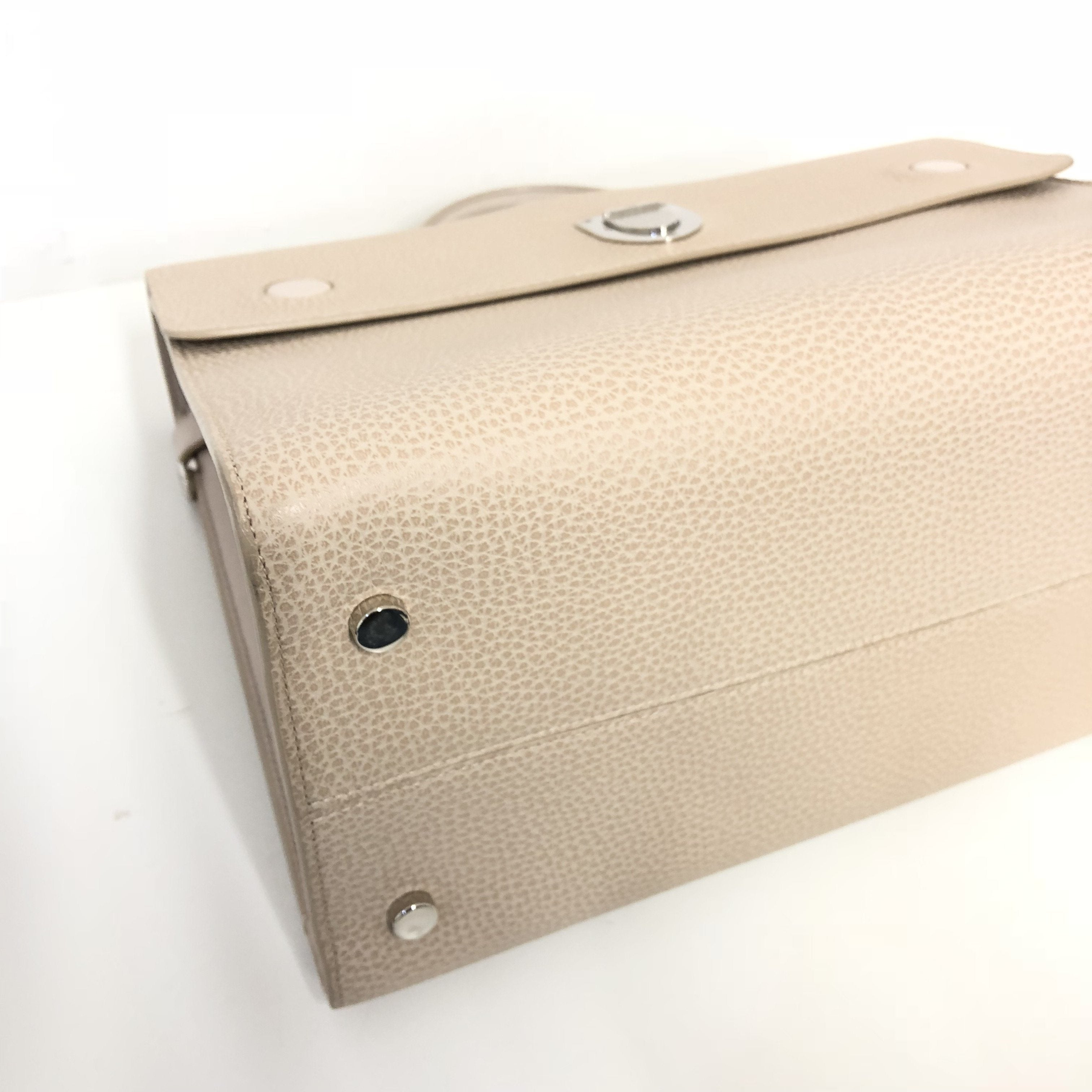 Dior Beige Leather Large Diorever Bag