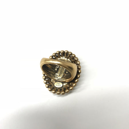Oscar De La Renta Gold Statement Ring