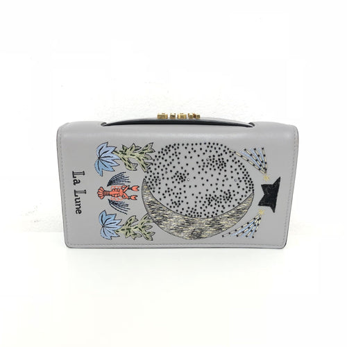 Dior T Zodiac Embroidered Clutch