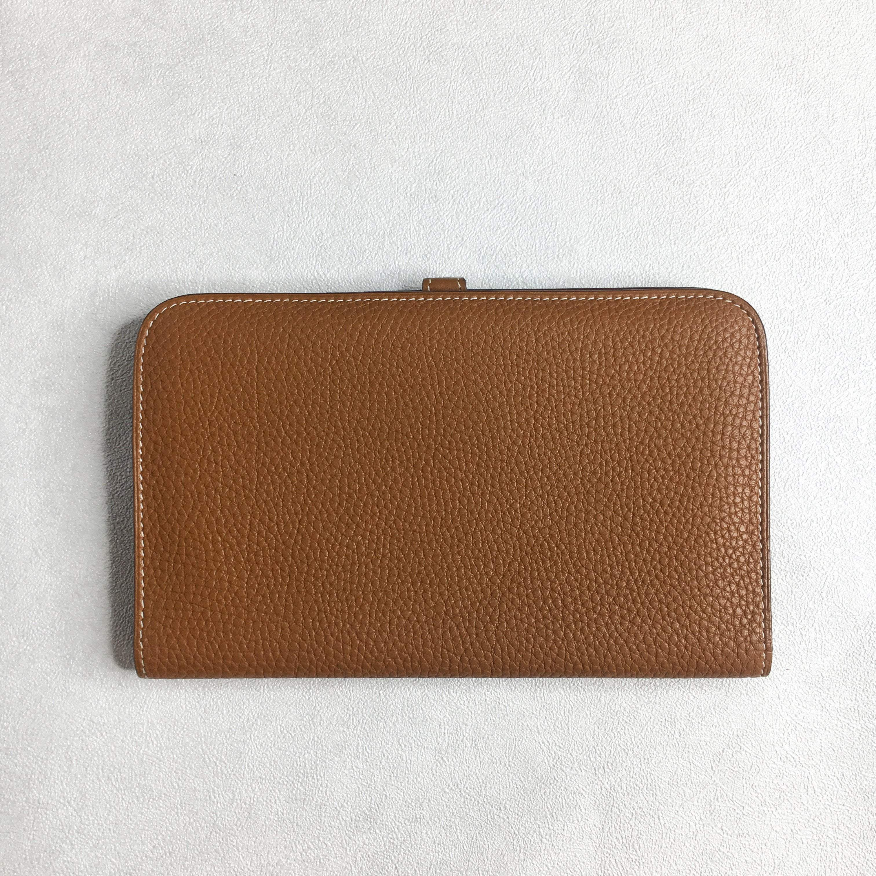 Hermes Dogon Togo Leather Brown Wallet