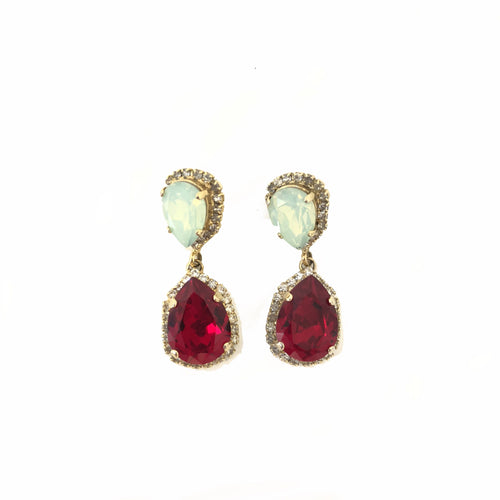 No Brand Multi Colour Crystal Drop Earrings