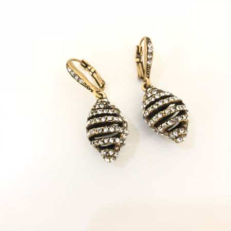 No Brand Crystal Cage Earrings