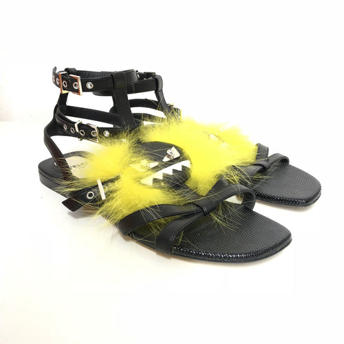 Fendi Monster-Applique Leather Gladiator Sandals