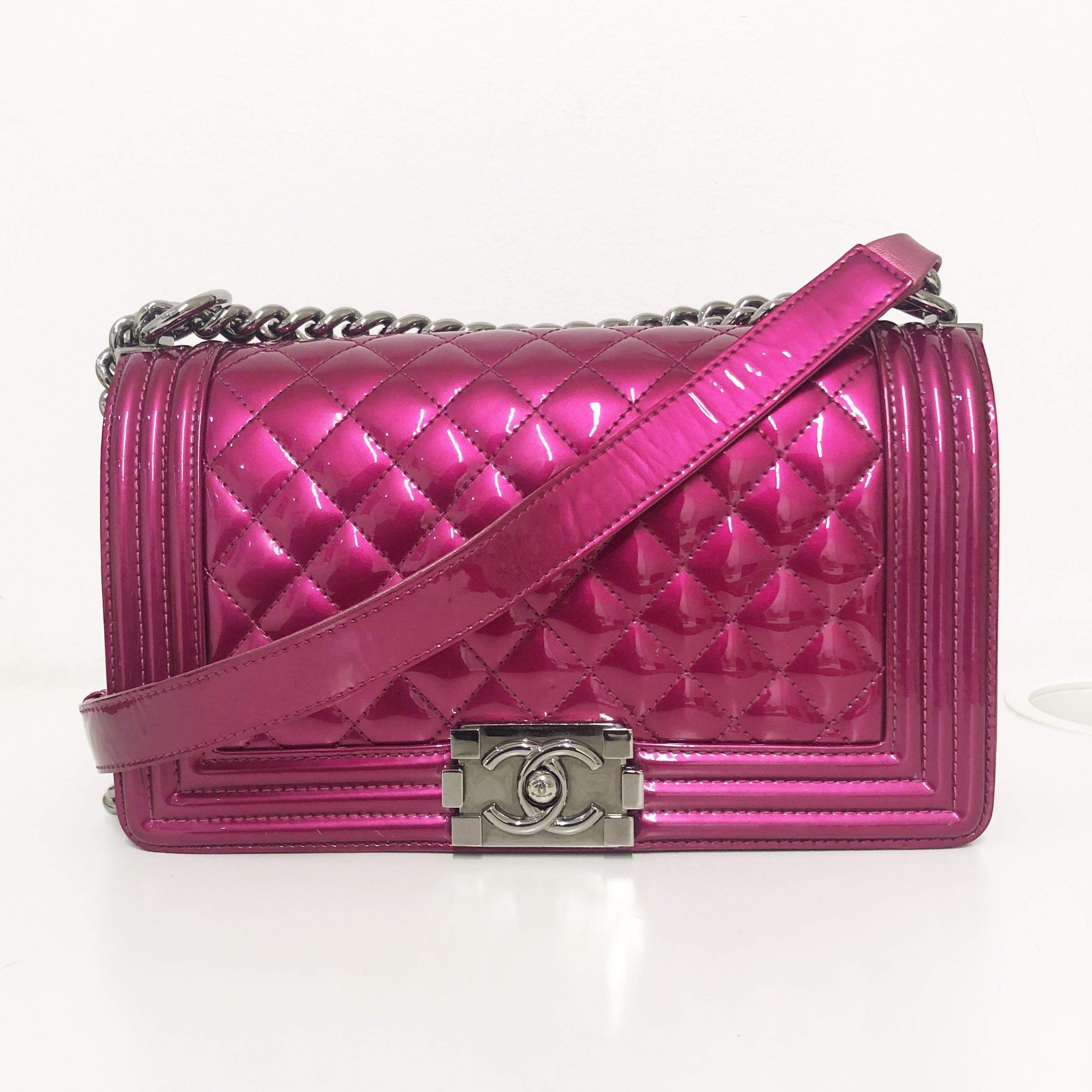 Chanel Medium Le Boy Bag in Fuschia