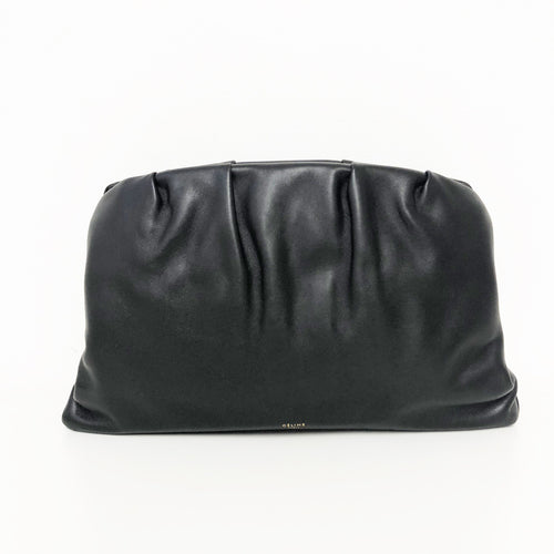 Celine Large Calfskin Leather Black  Clutch