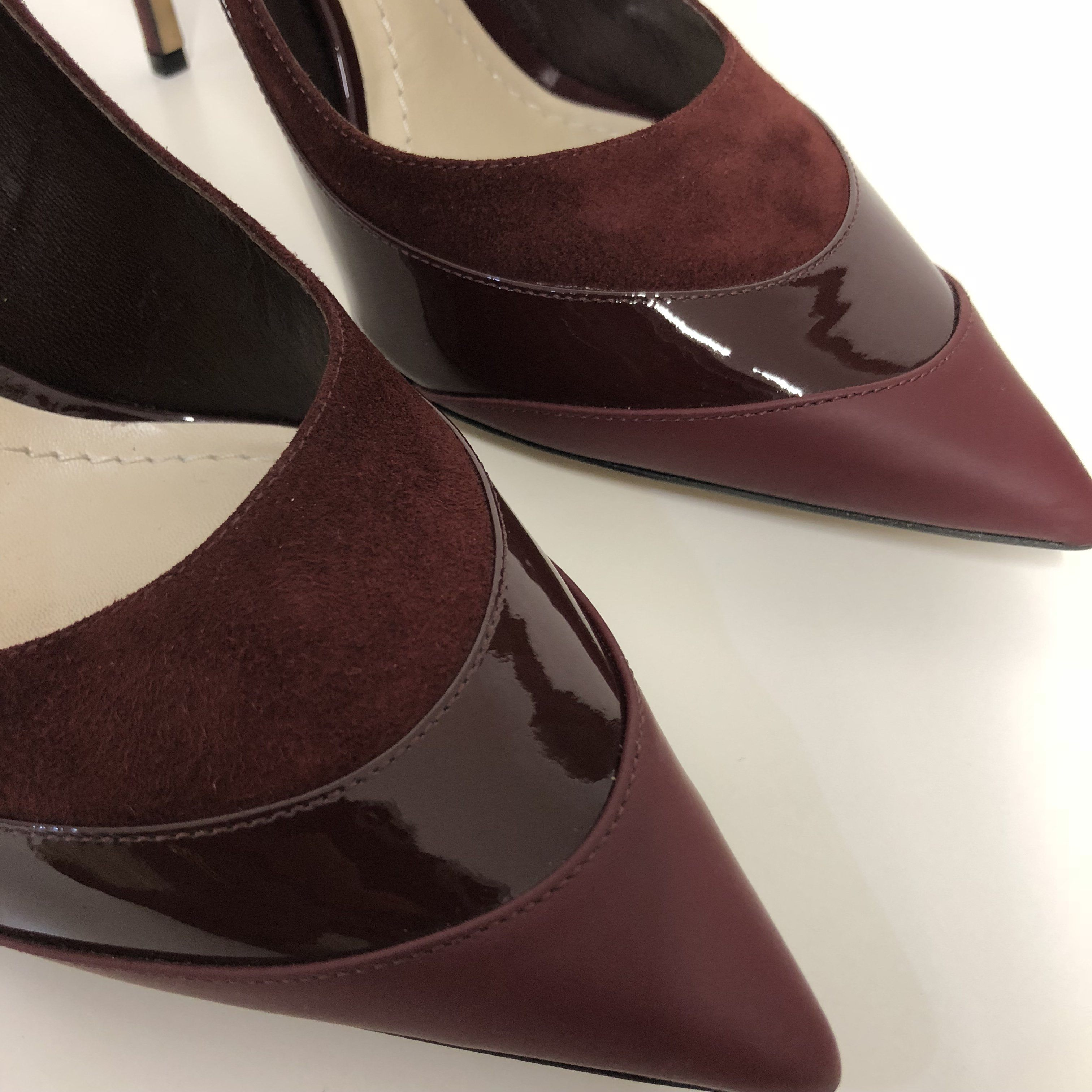 Christian Dior Burgundy Pointed Toe Pumps
