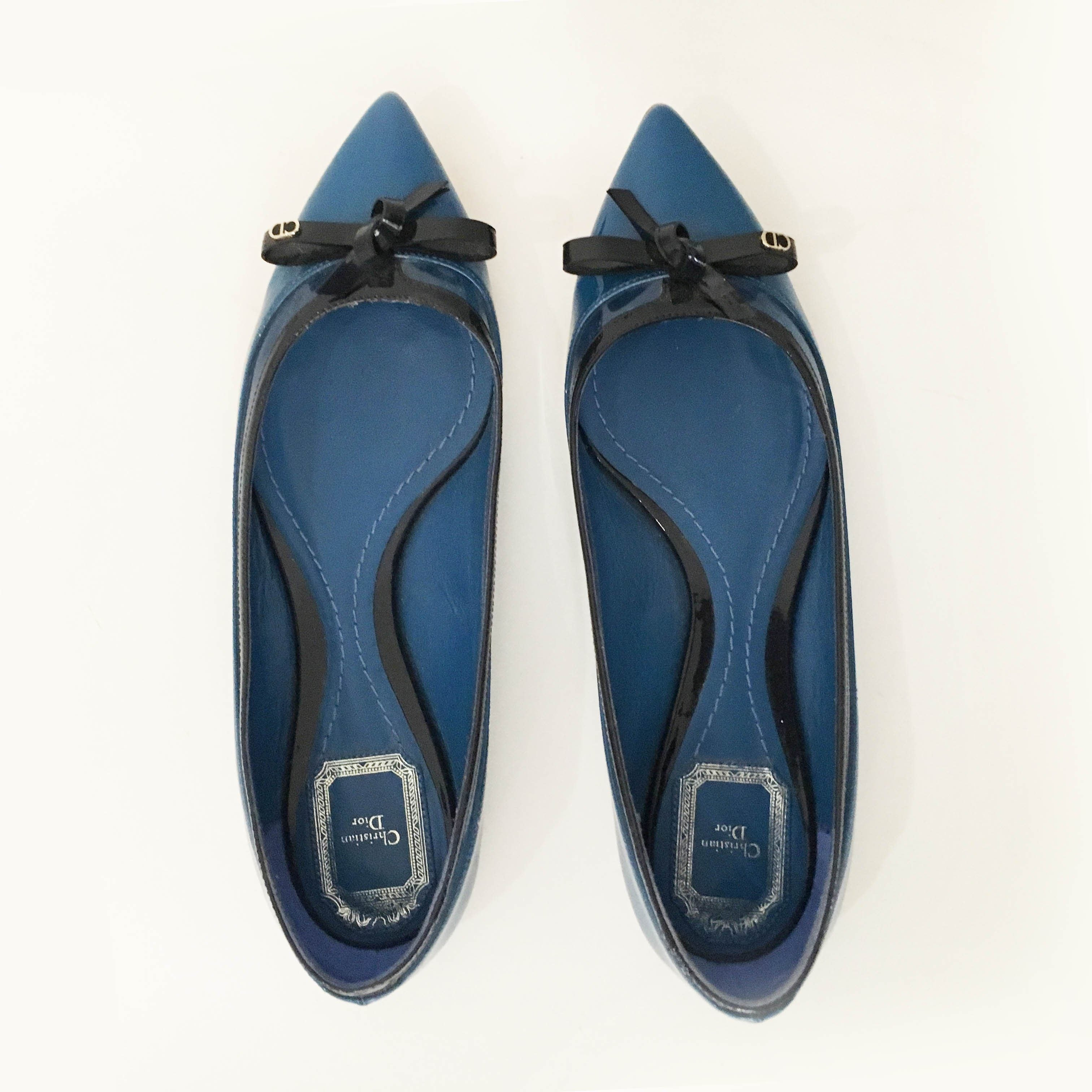 Christian Dior Patent Leather Pointed Flats
