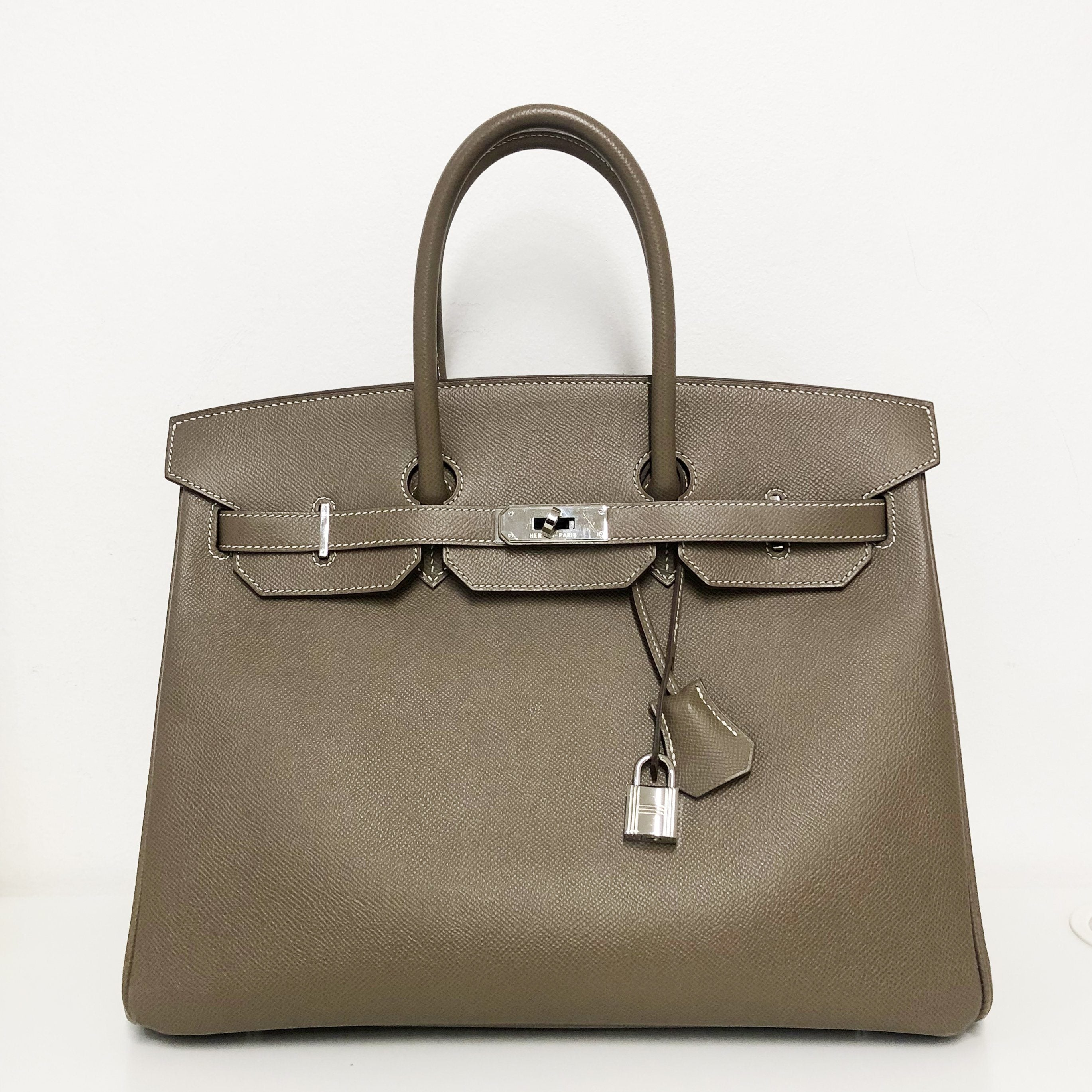 Hermes Birkin 35 Etoupe in Epsom Leather