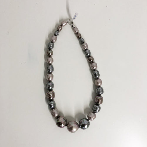 Majorica Grey and Purple Pearl Necklace