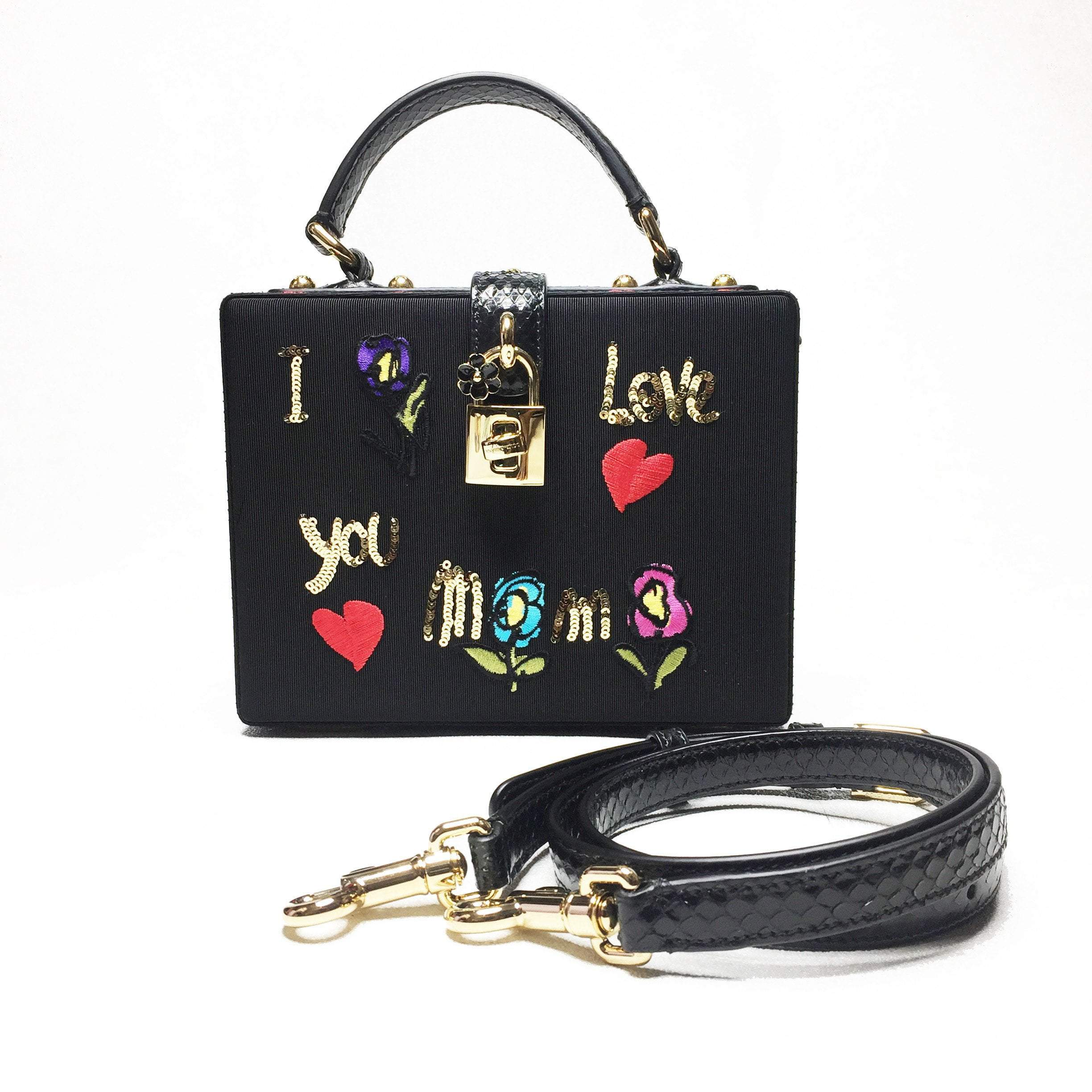 Dolce & Gabbana Box Embroidered Mamma Bag