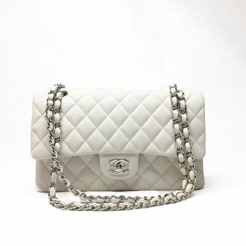 Ivory Caviar Medium Classic Double Flap Bag