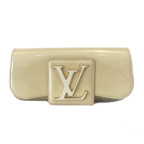 Louis Vuitton  Light Yellow  Vernis Leather Sobe Clutch
