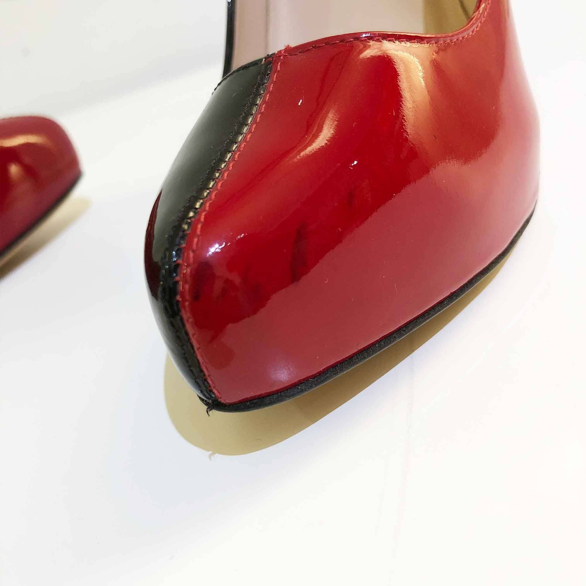 Jaen Paul Gaultier Black and Red Patent Pumps