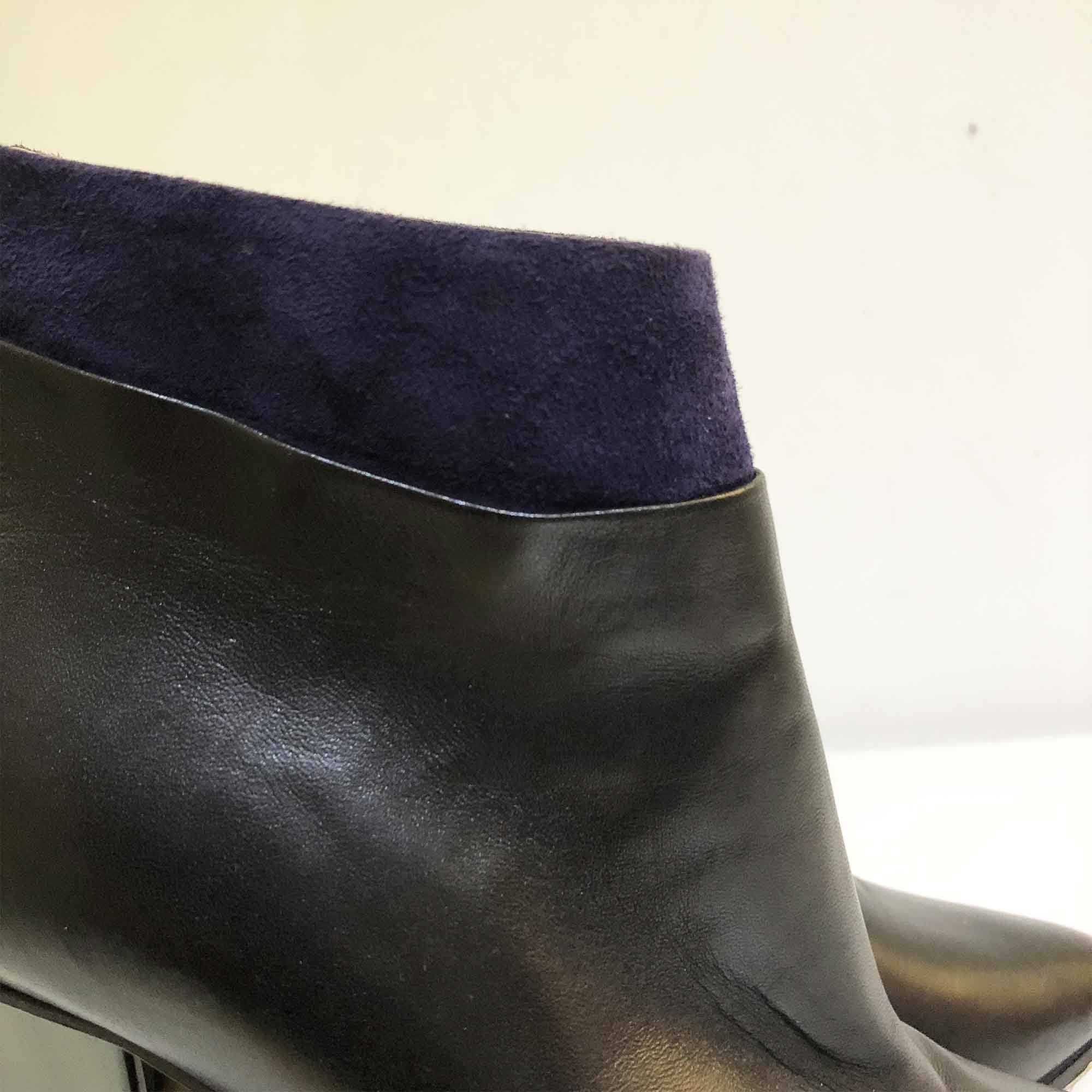 Jimmy Choo Vanish Blue Suede Ankle Boots