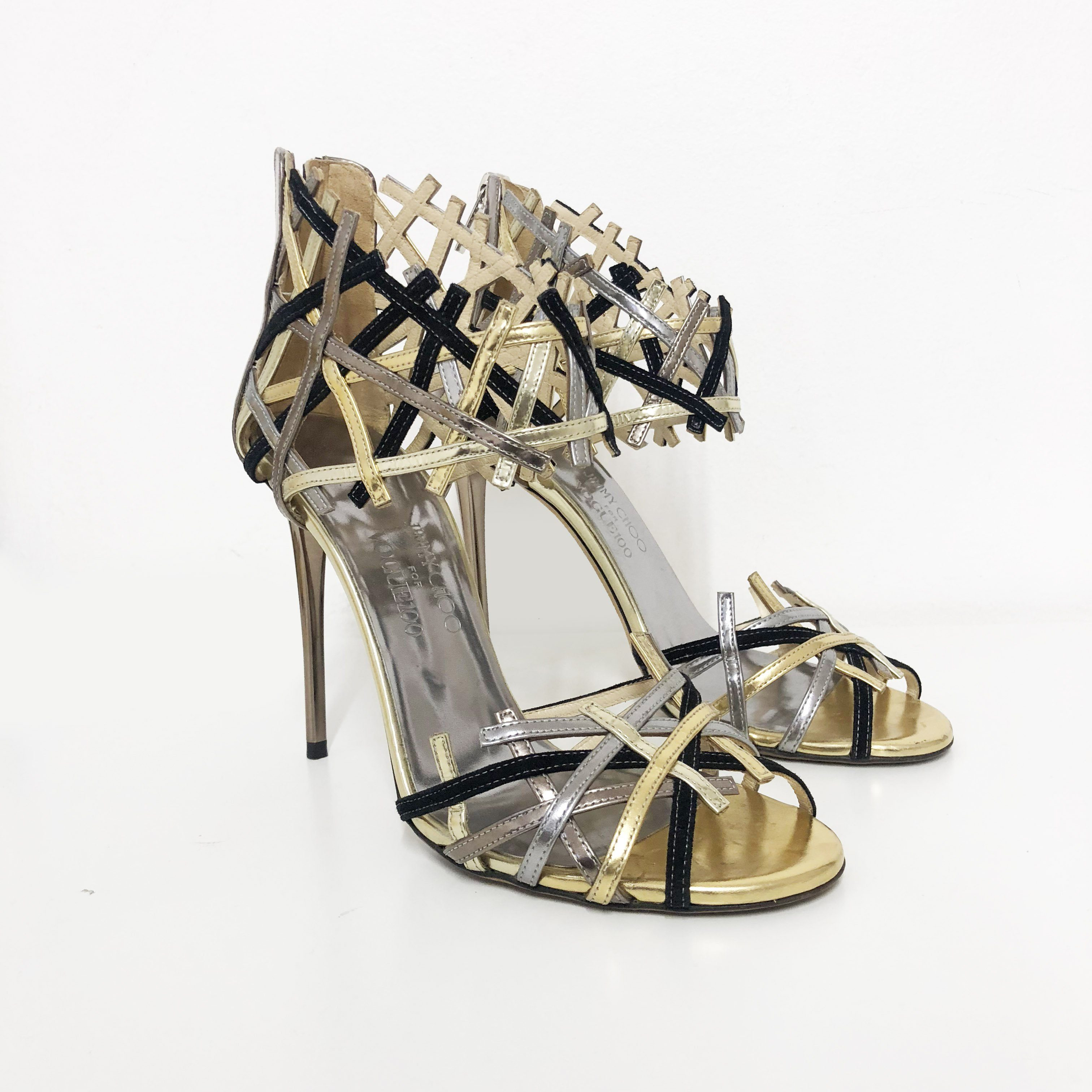 Jimmy Choo Limited Edition Vogue 100 Criss Cross Heels