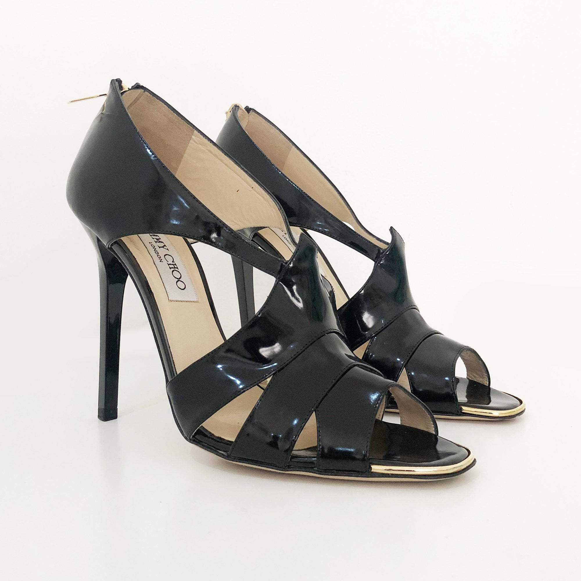 Jimmy Choo Patent Strappy Heels